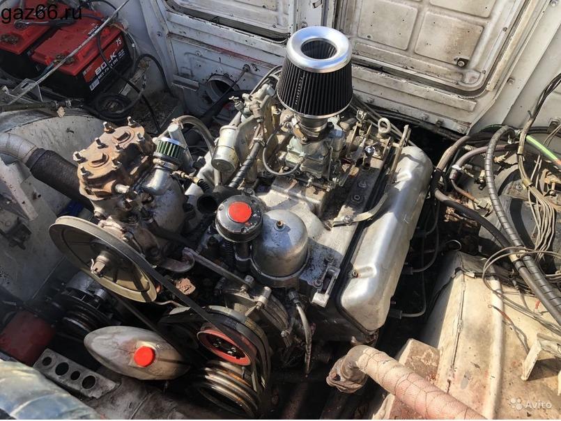 Двигатель Брдм-2 с кпп, ком и насосом гур (Газ-41) - 4